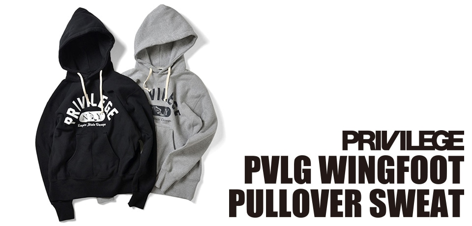 PRIVILEGE PVLG WINGFOOT PULLOVER SWEAT