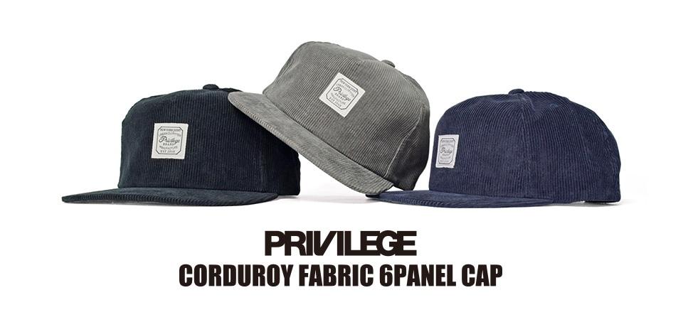 PRIVILEGE CORDUROY CAP