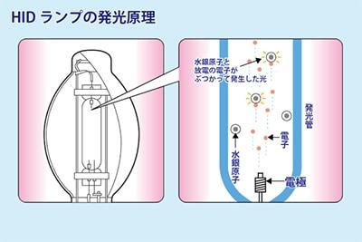 HIDランプの発光原理