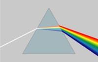 太陽光をプリズムに通すと、7色に分かれます。