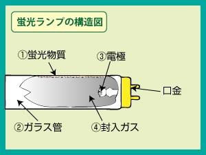 蛍光ランプの構造