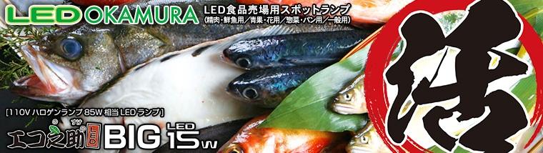 活きよく美味さ光る!岡村電産 エコ之助LED BIG LED食品売場用スポットランプ特集