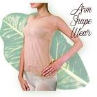 フラダンス専用インナー laulaxの二の腕を細く見せるアームシェイプウエア