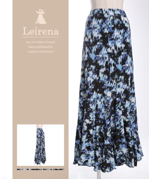■SALE■モザイクカラープリントロングスカート