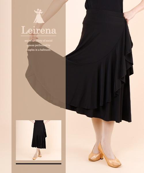 ◆SALE◆斜め切り替え ティアードデザイン スカート【社交ダンス 衣装 スカート ロング】