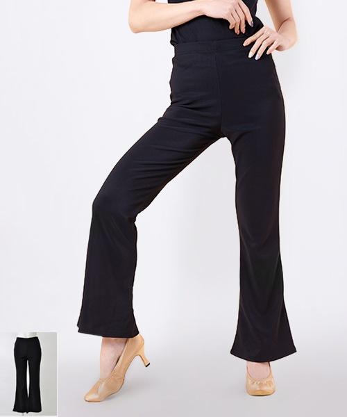■2Lサイズ丈直不要■ブーツカットパンツ【社交ダンス 衣装 パンツ レッスンウエア】