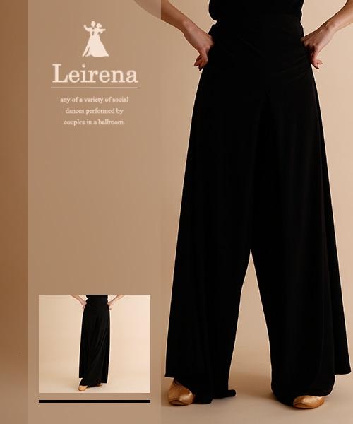 オーバースカート風デザイン ワイドパンツ
