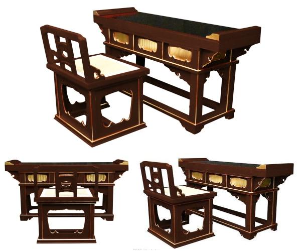 前机と椅子式曲録セット