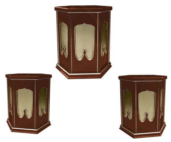 垂直型の六角灯篭台