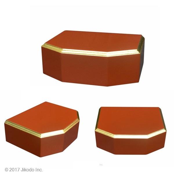 六角型面金仏像台