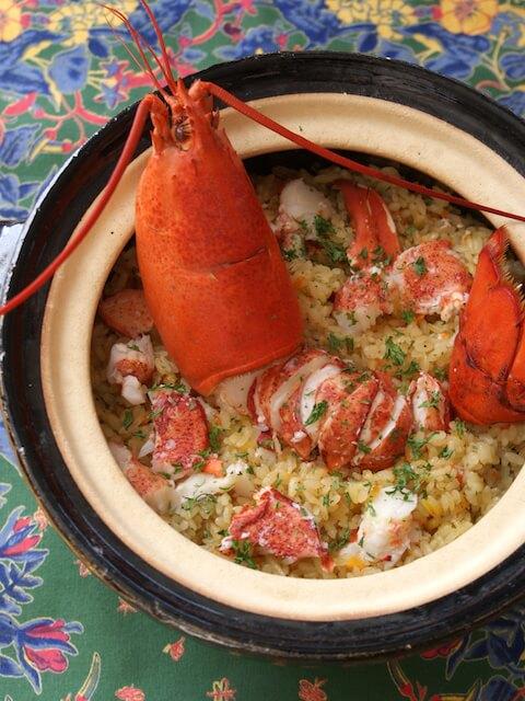 オマール海老の土鍋パエリア
