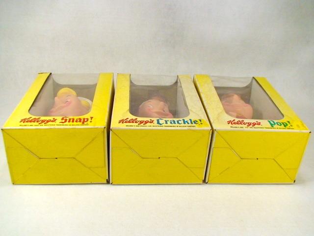 【送料無料】ビンテージ アドヴァタイジング 70's Kellogg's シリアル ケロッグ 3体セット 箱入