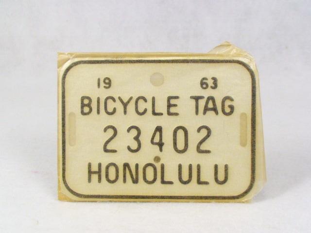 ビンテージ Hawaii ハワイ 1963 BICYCLE PLATE バイシクル プレート
