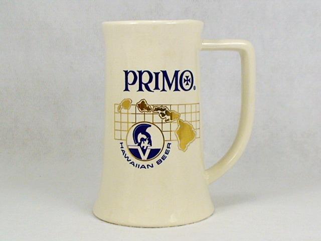 ビンテージ PRIMO BEER 70' 陶器製 ビア マグ