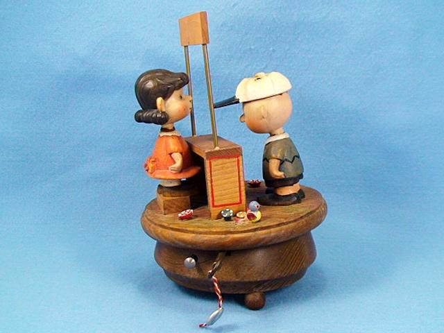 ANRI 1968年 スヌーピー オルゴール チャーリー&ルーシー Doctor Booth