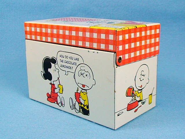 ビンテージ Hallmark 1970's スヌーピー Recipe Box レシピ ボックス
