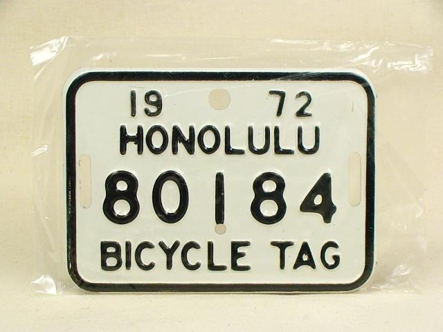 ビンテージ Hawaii ハワイ 1972 BICYCLE PLATE バイシクル プレート 白