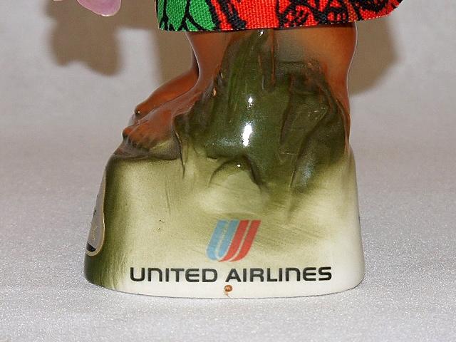 【送料無料】ビンテージ 70' ジムビーム ボトル United Airlines Menehune Decanter