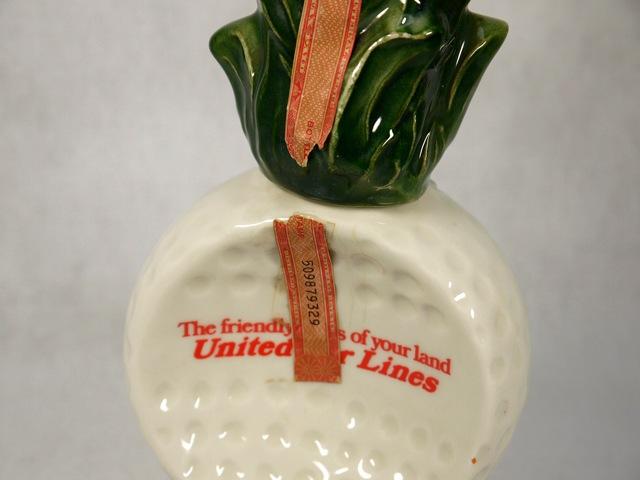 【送料無料】ビンテージ 73' ジムビーム ボトル United Airlines パイナップル Decanter