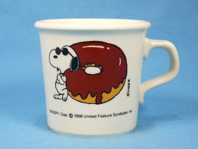 ビンテージ 70' スヌーピー Chocolate-covered donut 陶器製