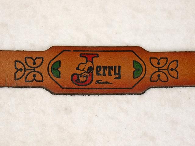 """ビンテージ Aviva 1970〜80's スヌーピー レザー ブレスレッド """"Jerry"""""""