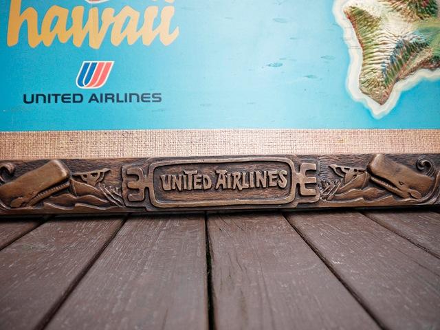 ビンテージ United Airlines 3D Map ユナイテッドエアライン  3D マップ