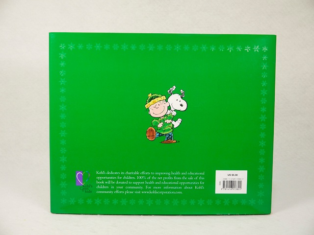 """ビンテージ Kohl's Cares for Kids スヌーピー 絵本 """"I Want a Dog for Christmas,Charlie Brown !"""""""