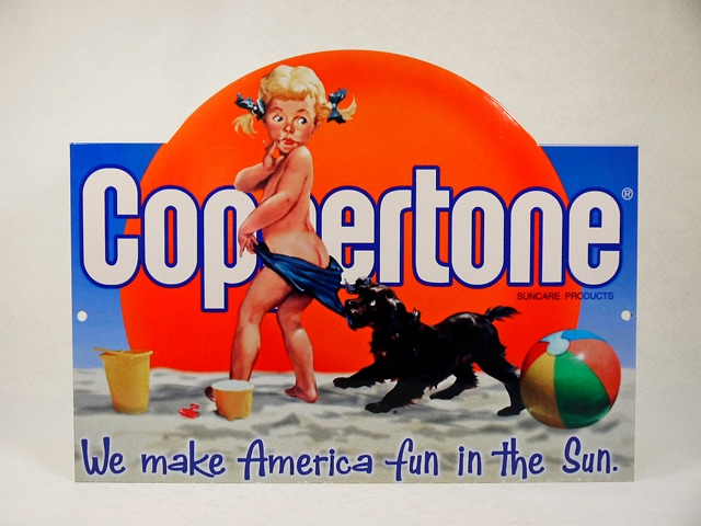ビンテージ Coppertone コパトーン ホーロー サイン
