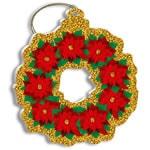 ハワイアンクリスマスオーナメント tropical holiday wreath
