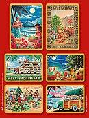 ハワイアンアートクリスマスステッカーセット/Eddy Y Collection