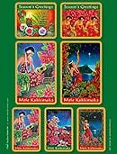 ハワイアンアートクリスマスステッカーセット/Warren Rapozo Collection