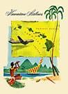 ハワイアン ヴィンテージ グリーティングカード