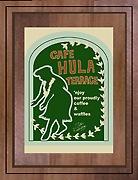 タツ・ロドリゲス アートプリント Cafe Hula Terrace