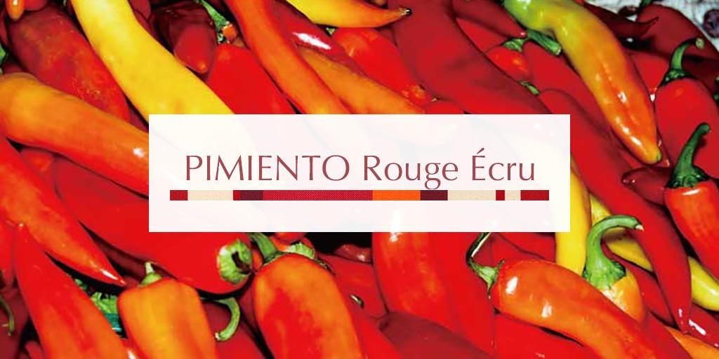 2018AW ピミエント ルージュ エクリュ/PIMIENTO Rouge Ecru