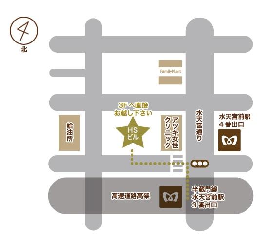 半蔵門線水天宮前駅からの地図