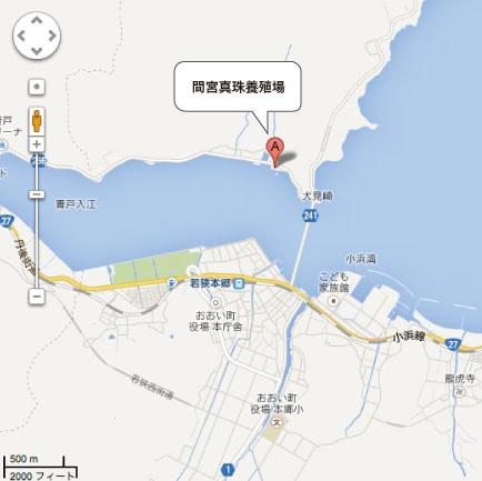 間宮真珠の地図
