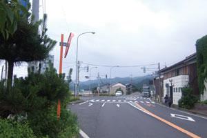 青戸大橋手前の交差点