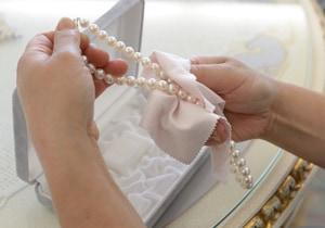 真珠のクリーニング