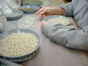 真珠の選別
