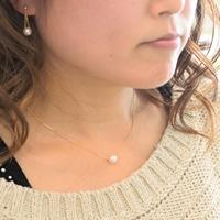 アコヤ真珠の一粒ペンダント K18