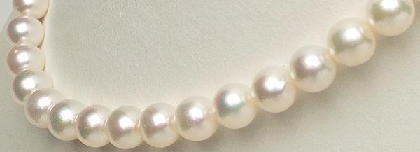 希少な和珠の超大珠 上品な輝き優しいホワイトピンクの9�-9.7�ネックレス