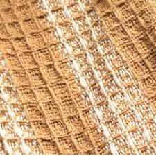 手つむぎオーガニックコットン布 417/2茶綿/白綿蜂巣織り