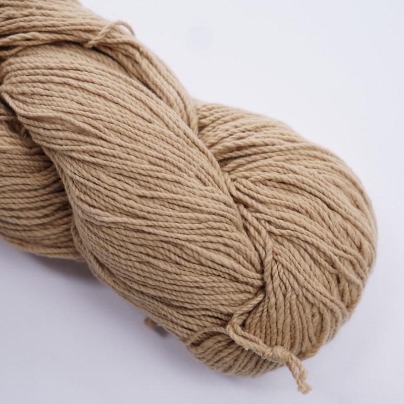 オーガニックコットン手つむぎ糸|417/2 カラー60色 白茶