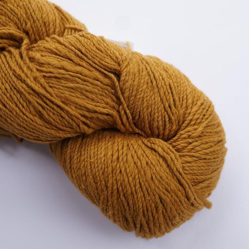 オーガニックコットン手つむぎ糸|417/2 カラー60色 小麦色