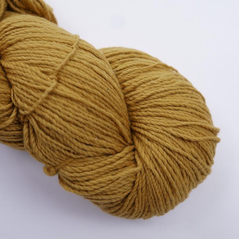 オーガニックコットン手つむぎ糸|417/2 カラー60色 黄朽葉色