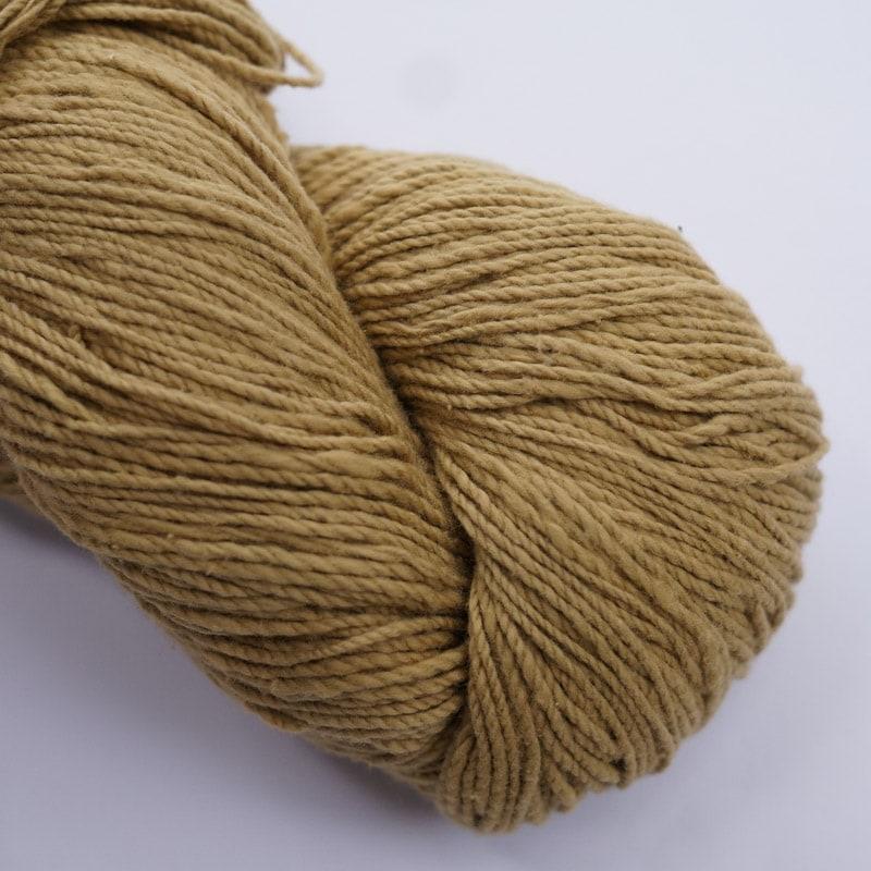 オーガニックコットン手つむぎ糸|417/2 カラー60色 砥粉色