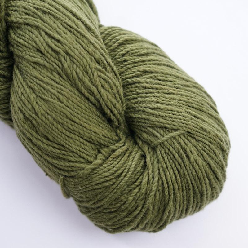 オーガニックコットン手つむぎ糸|417/2 カラー60色 苔色