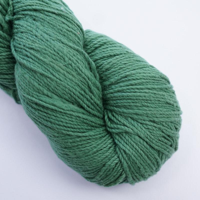 オーガニックコットン手つむぎ糸|417/2 カラー60色 常盤緑
