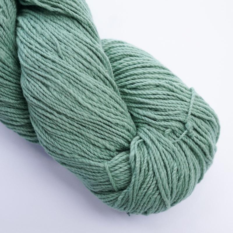 オーガニックコットン手つむぎ糸|417/2 カラー60色 若竹色