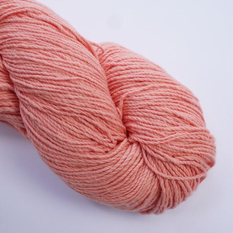オーガニックコットン手つむぎ糸|417/2 カラー60色 一斤染